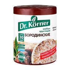 Dr. Korner Borodino Rye Crispbread 100g/3.52oz (5 pack) Whole Grain Borodinskiy Snack