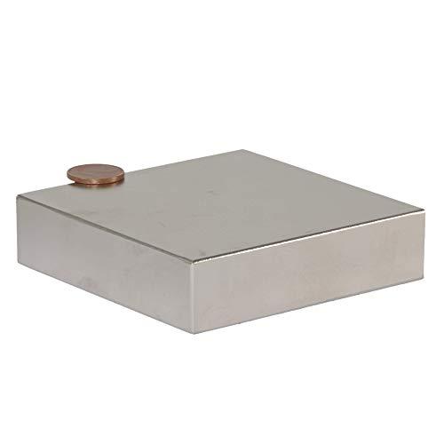 Neodym Magnet N52 400 Kg - Neodym Magnete Extra Stark - Super Magneten Quader Groß - 80x80x20 mm Power Block Platte