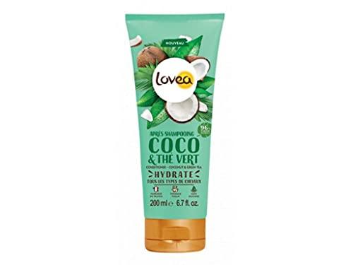 Lovea Acondicionador con agua de coco y extracto de té verde, para todo tipo de cabellos...
