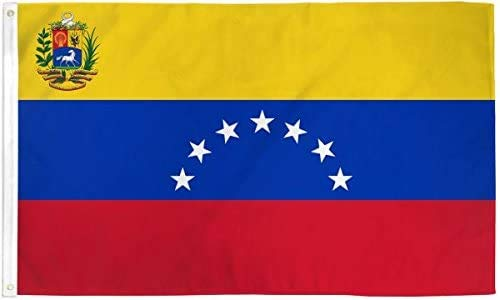 YeeATZ Bandera Venezuela 7 Estrellas (antigua) - Nueva serie Ultrabreeze - 9 x 1,5 m de poliéster
