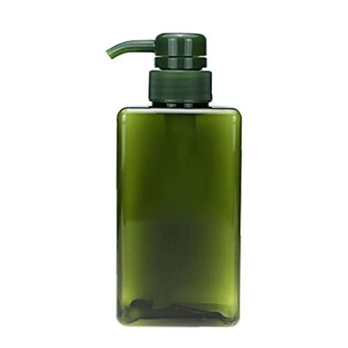 Shampooing Flacon pompe rechargeable Poussez vide Type Lotion plastique Distributeur 450ml vert, bouteilles et accessoires remplissables