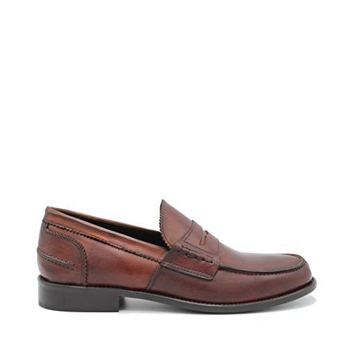 Saxone Of Scotland Sunday Loafer Chestnut Leather/Chestnut / 41