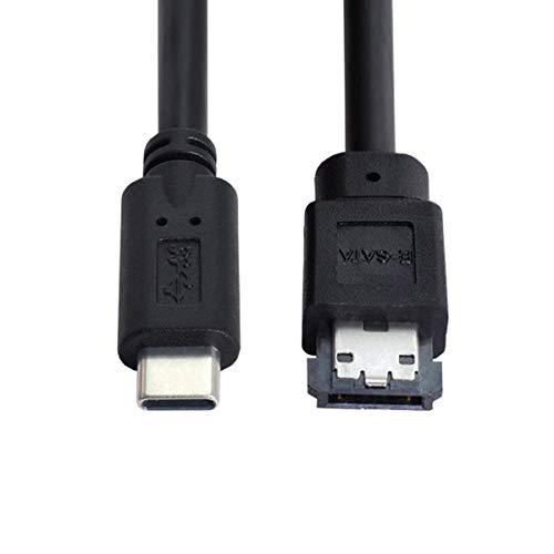 CY eSATA zu USB C Kabel USB Typ C Stecker Host zu eSATA eSATAp HDD Kabel für Laptop PC