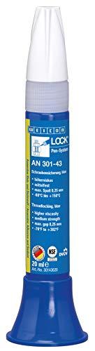 WEICON 30143020 WEICONLOCK AN 301-43 20 ml Schraubensicherung, NSF- & DVGW-geprüft, blau