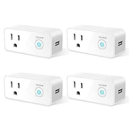 Smart Plug Wifi Outlet USB mini Socket Compatible with Alexa&Google Home, Schedule Timer Function...