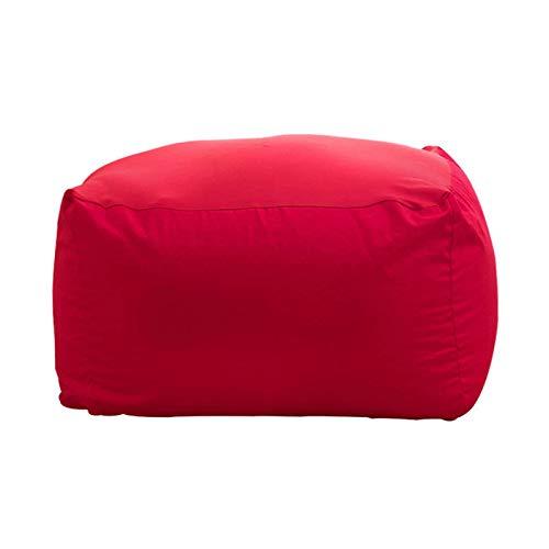 JHLD Sitzsack Bezug Ohne Füllung, Eckig Sitzsack Stühle Sofabezug Hochwertig Baumwolle Segeltuch Sitzsackbezug Für Wohnzimmer-rot-55×55×38cm