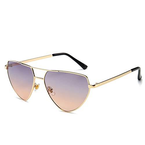 Fashion Sonnenbrille Europa und die Vereinigten Staaten Männer und Frauen Sonnenbrille Netz Rot Catwalk Sonnenbrille Lila wie abgebildet