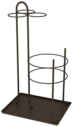 Busirsiz Hierro paragüero Paraguas Inicio Piso Cubo Estante de Almacenamiento (café-Color de 60 * 33 * 25 cm)