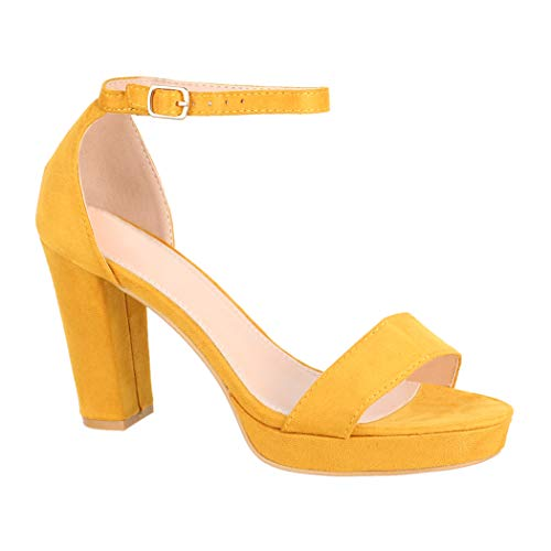 Elara Damen Pumps High Heels Chunkyrayan P WW100 Yellow-40