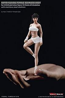 【R・DOLL】 TBLeague 1/12 女性 フィギュア ドール 素体 ボディ 超柔軟性・シームレス アジア バストサイズ M 交換足 交換手 白肌 サンタン (ヘッドあり) TBリーグ female super flexible seamless body PHMB2018-T01