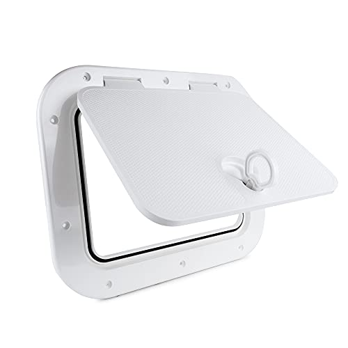 Five Oceans Marine Deck Access Hatch with Lock 15-11/16 x 12-7/8 inches FO-2347-1