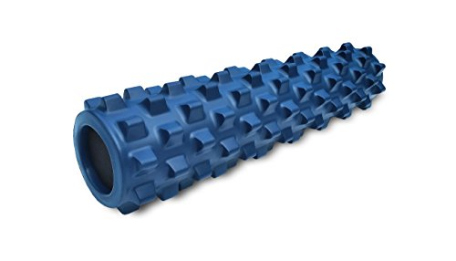 RumbleRoller - Mid Size 22 Inches - Blue - Original - Textured Muscle Foam...