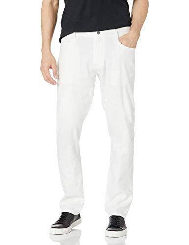 Cubavera Men's Linen-Blend Stretch 5-Pocket Pant, Brilliant White, 38W x 34L