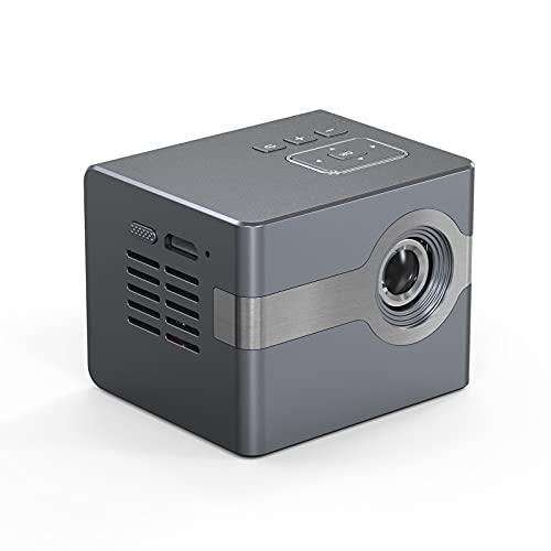 shu Proyector. con Pantalla Compatible con HD, Mini proyector de vídeo Compatible con TV Stick PS4, HDMI, VGA, TF, AV, USB, Reutilizable.