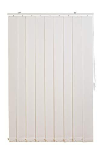 Sunlines HW5008 Vertikaler Lamellenvorhang Fixmaß, Stoff, weiß, 200 x 180 cm