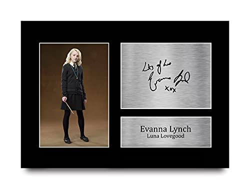 HWC Trading A4 Evanna Lynch Harry Potter Luna Lovegood Geschenke gedrucktes Autogramm Bild für Film-Fans