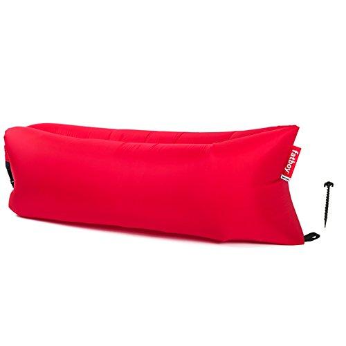 Fatboy USA Unisex-Erwachsene Lamzac Version 2.0 Aufblasbare Luftliege, rot, One Size