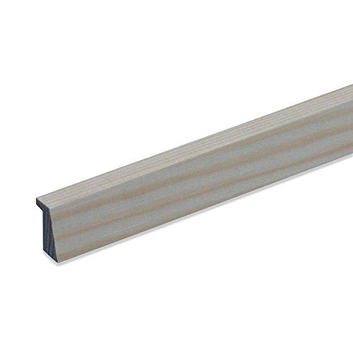 Falzleiste Bilderleiste Abschlussleiste Zierleiste Winkel-Profil aus unbehandeltem Kiefer-Massivholz 2100 x 12 x 22 mm