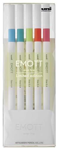 【三菱鉛筆】【数量限定】EMOTT(エモット) 水性サインペン 5色セット SEASIDE(海辺)