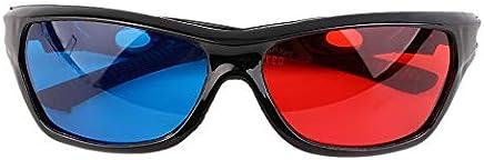 0186909b95 Gafas 3D universales Marco Negro Rojo Azul Visoin 3D para el Juego de películas  en anaglifo