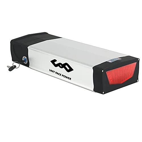 Batteria 48V 20Ah - Batteria bici elettrica con luce posteriore per kit conversione bici 1000W 750W 500W - Batteria portapacchi posteriore