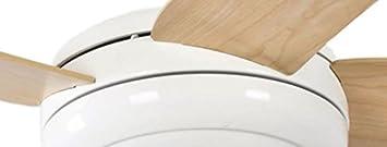 240 voltsV White 132012118 Makkura Pepeo Ceiling Fan with Blade Maple