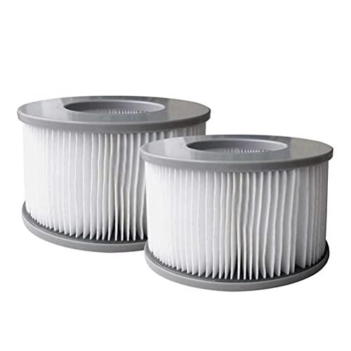 J-ouuo Filtro de repuesto para piscina, 2 unidades, compatible con MSPA, filtro central de agua, compatible con Hot U-Boot-Spa