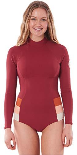 RIP CURL Damen goldene Daze Back Zip Surf Suit - Maroon - UV - Protection und SPF Properties - Poly Elastan Gewebe