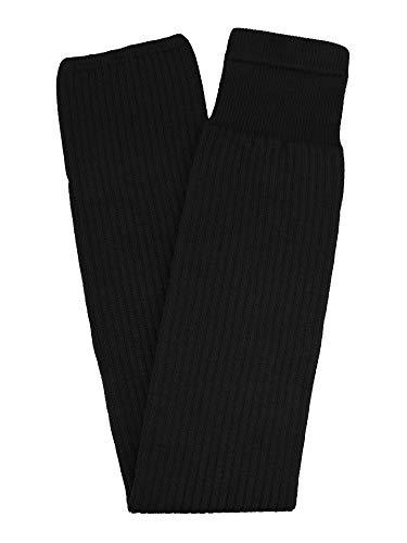 TCK Rib Knit - Calcetines de hockey sobre hielo para jóvenes y adultos, fabricados en Estados Unidos, Negro, Youth 20'-22'