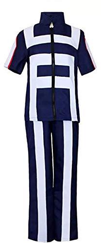 Ugoccam Anime Adult Cosplay Full Set Uniform Gymnastics Suit Halloween Costume Blue