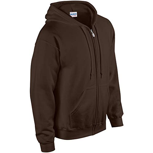 Gildan Adult Heavy Full-Zip Hooded Sweatshirt, Maroon, Large