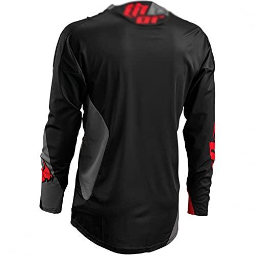 AGLT Camiseta de Bicicleta Verano Moto Motocross MTB Jersey Ciclismo Manga Larga Deporte al Aire Libre para Gimnasio Entrenamiento Correr Unisex,Black,2XS