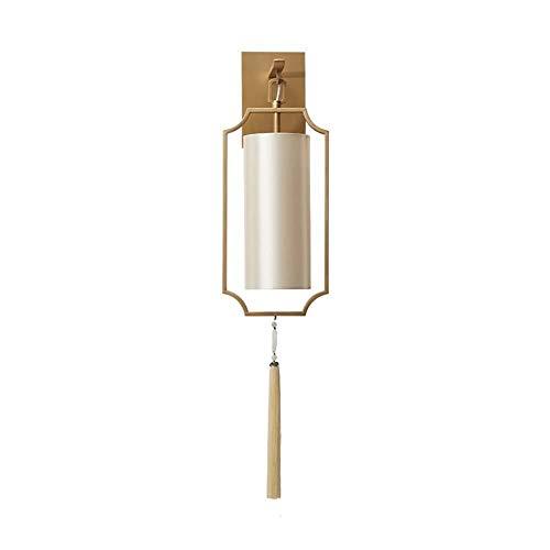 Klassieke wandverlichting, lampen, lantaarns, verlichting, slaapkamer, hotel, paviljoen, spotlight, designerkamer, ijzer, design + zijdedraad, 49 x 18 cm, wandlampen