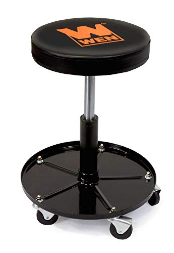 WEN 73012 300-Pound Capacity Pneumatic Rolling Mechanic Stool Seat