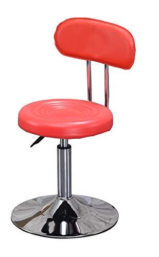 Barlift Drehhocker Stuhl, Büropersonal Computer-Hebestühle Hocker, höhenverstellbar 360 ° Drehstühle Ergonomische Hocker-red