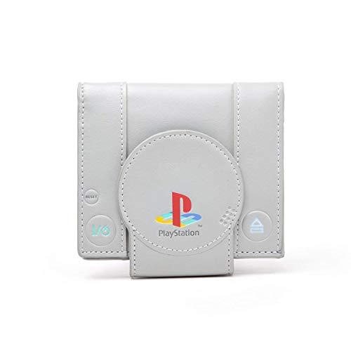 PlayStation Geldbörse Brieftasche im PS1 Design Spielekonsole Retro grau lizenziert