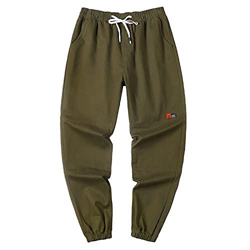 Pantalones de Jogging para Hombre Summer Street Trend Pantalones de chndal Sueltos de Talla Grande adecuados para Deportes al Aire Libre y Ocio Todo Partido 3XL