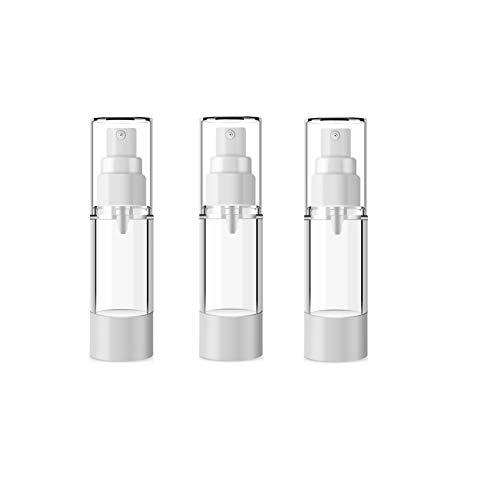 3 PCS 15ML 0.5OZ Vide Rechargeable En Plastique Transparent Airless Vide Bouteille Distributeur Portable Parfum Bouteille De Titulaire Flacon Titulaire Cosmétique Contenant