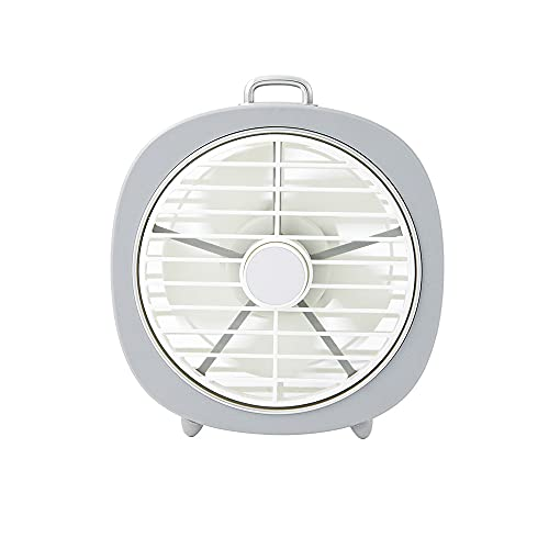XQTEI Mini USB Desktop Fan Silent Fan Portable USB Power Supply 3 Speed Setting Cooling Night Light Suitable for Office Travel and Camping