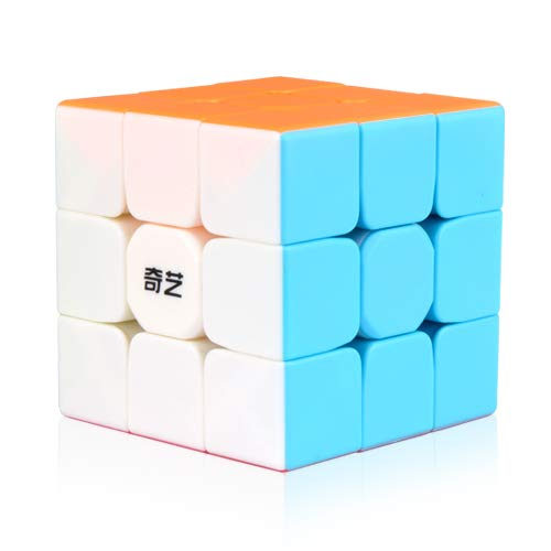 YCBABY Qiyi Warrior W Speed Cube 3x3- Stickerless Magic Cube 3x3x3 Puzzles Toys (56mm), The Most Educational Toy to Effectively Improve Your Child