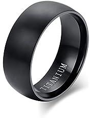 Mode Heren Zwarte Titanium Ring Matte Afwerking Klassieke Verlovings Anel Sieraden Voor Mannelijke Trouwringen