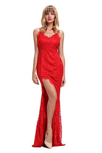 Vestiti Donna - Abiti Lunghi Ragazza - Fashion Moderno da Discoteca Party Sera Ballo O Festa - Eleganti per Sposa Cerimonia O Damigella (S, Modello 5 Rosso)