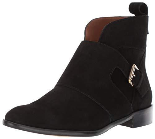 Emporio Armani Damen Monk Strap Ankle Boot Stiefelette, schwarz, 38.5 EU