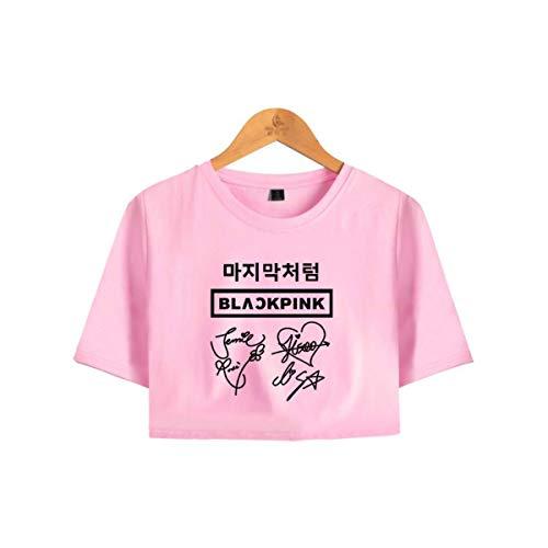 Blackpink Camisetas de Manga Corta con Mangas Cortas Atractivas de Verano Nombre...
