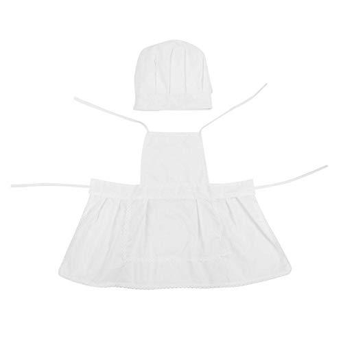 Estilo de cocinero Bebé Infantil Recién nacido Sombrero hecho a mano Ropa Bebé Accesorios de fotografía Conjunto Niño Sombrero Delantal Ropa de Chef Traje de bricolaje