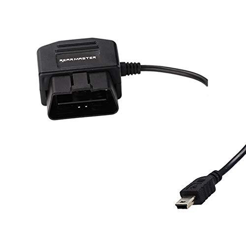 REARMASTER Auto Kamera Dashcam kabel mit Dual Modus Schalter, 24 Stunden ?berwachung modus und ACC modus, OBD-Anschluss(mini-usb)