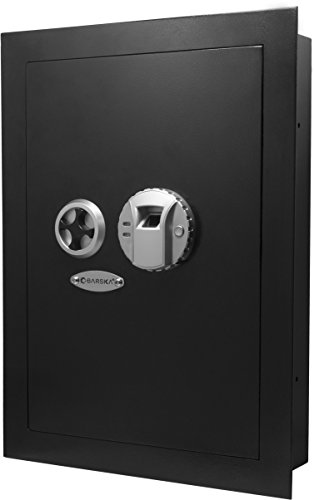 Barska Biometric Fingerprint Security Wall Safe 0.52 Cubic Ft