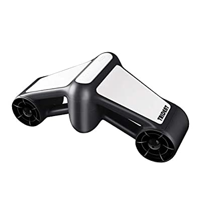 LONGTIME Water Scooter, seascooter 2-Level Speed for Snorkeling, Diving, 164ft Underwater Scooter with Go Pro Compatible. (White/Black)