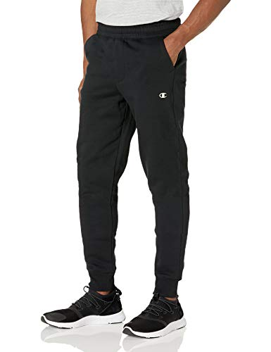 Champion Men's Authentic Originals Sueded Fleece Jogger Sweatpant, Black, Large