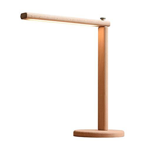 GZZJ bureaulamp van hout, tafellamp van hout, voor kantoor, woonkamer, studie en slaapkamer